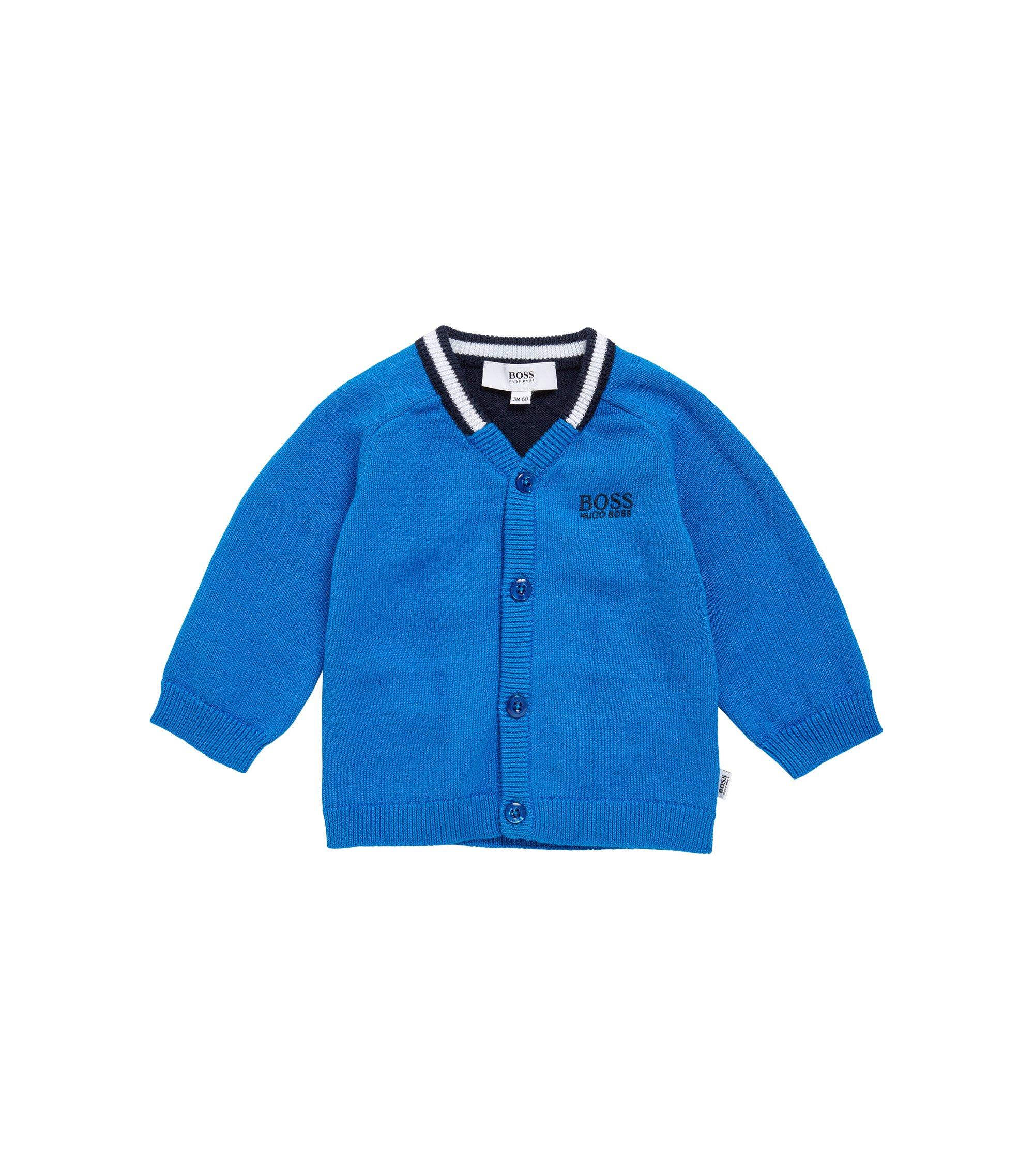 Cardigan da bambino in cotone con maniche raglan: 'J06613', Blu