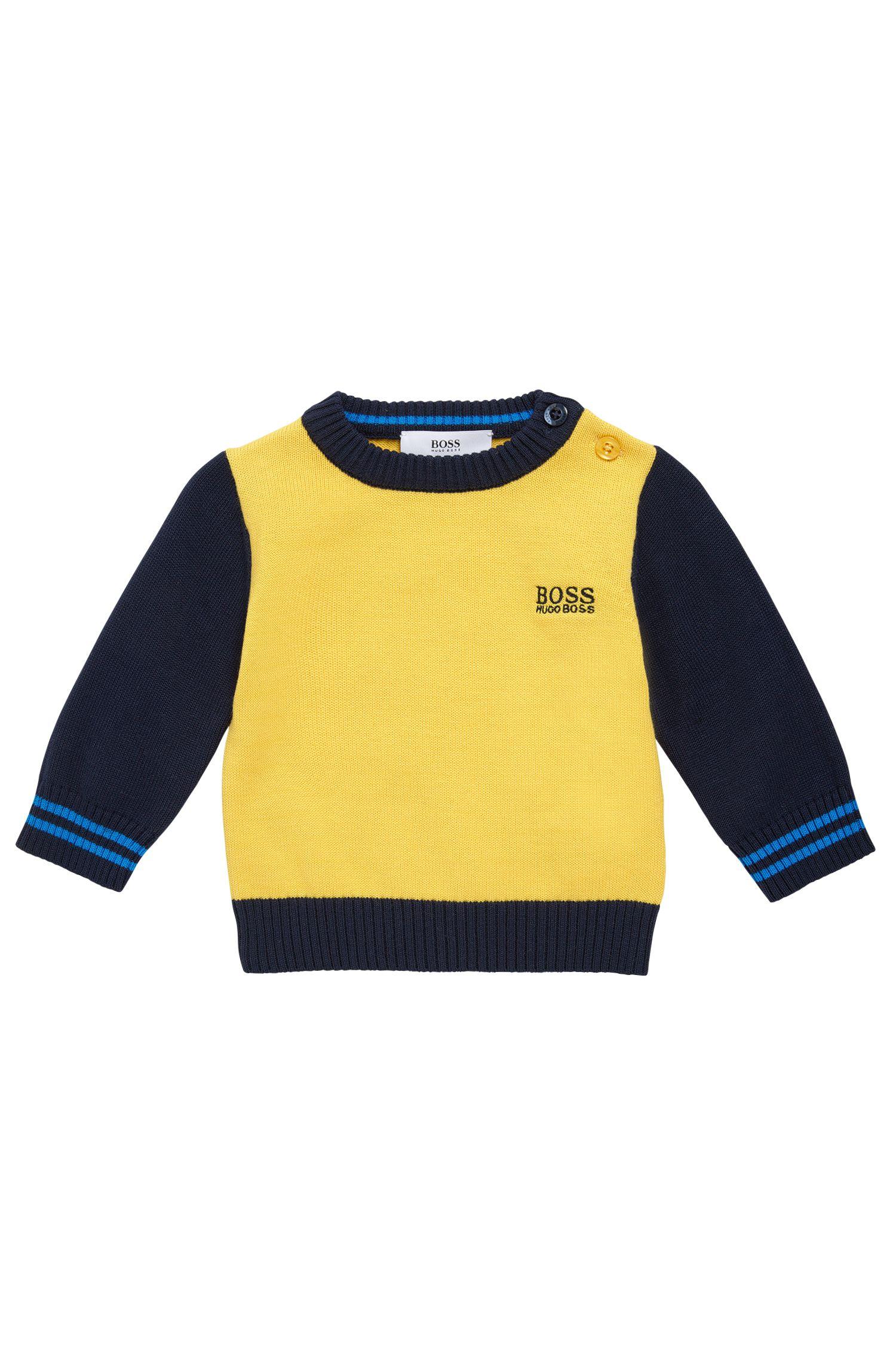 Kids-Pullover aus Baumwolle im mehrfarbigen Dessin: 'J05517'