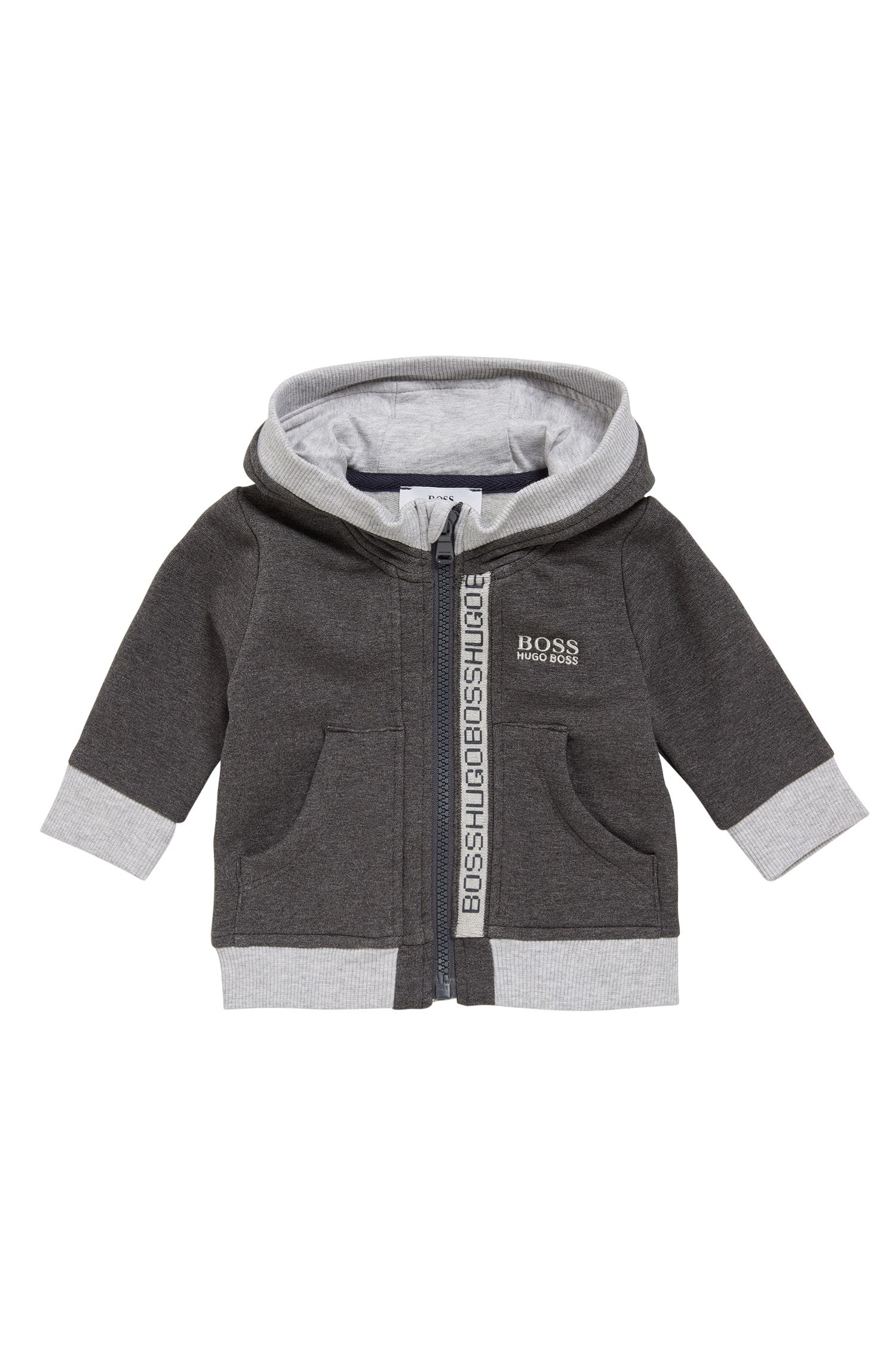 Kids' hooded jacket in stretch cotton blend: 'J05518'