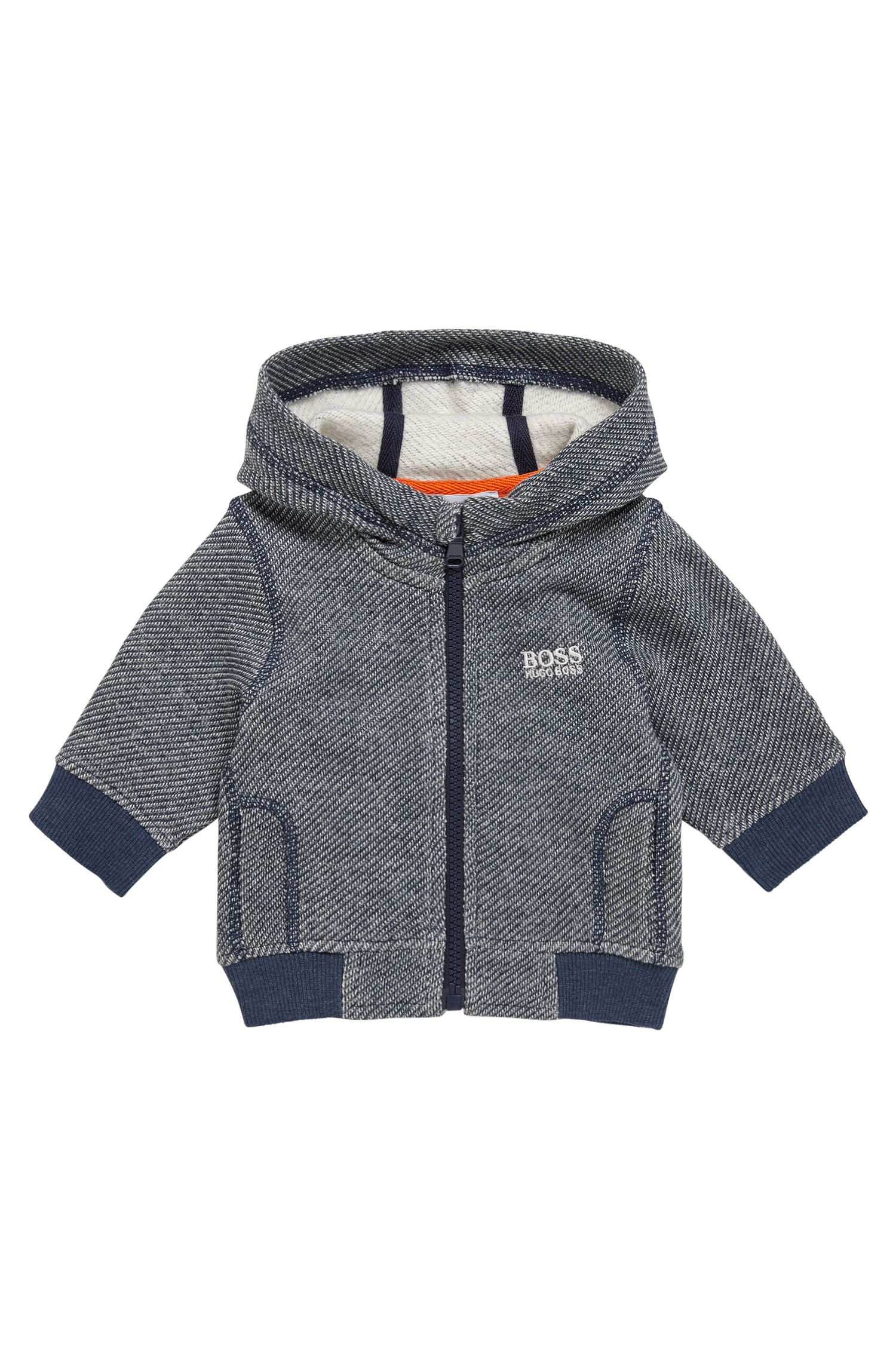 Patterned kids' sweat jacket in stretch cotton blend: 'J05519'