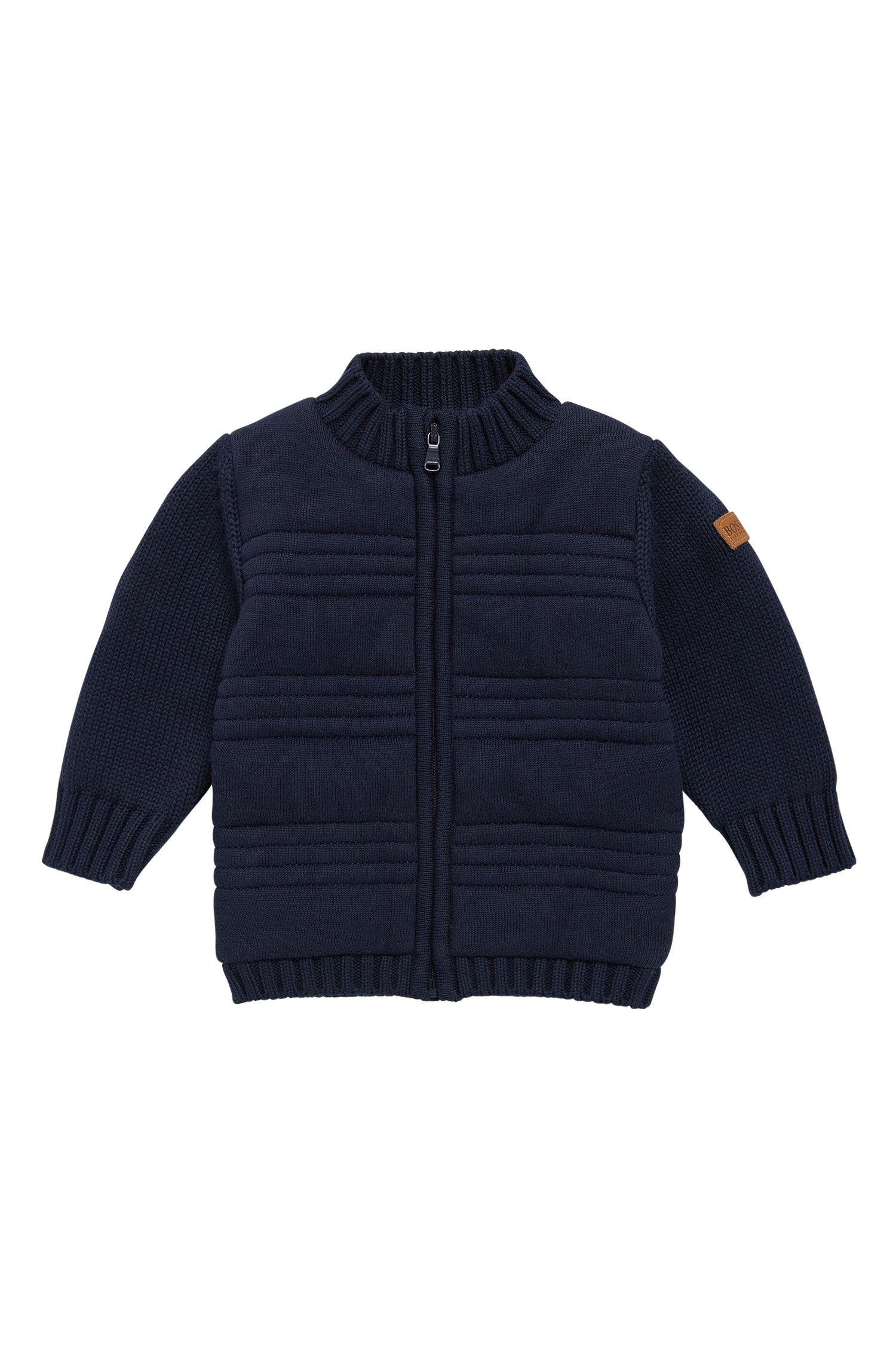 Veste en maille pour enfant en coton, doublée sur le devant: «J05522»