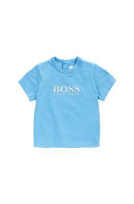 Camiseta para bebé en algodón con estampado de goma: 'J05525', Turquesa