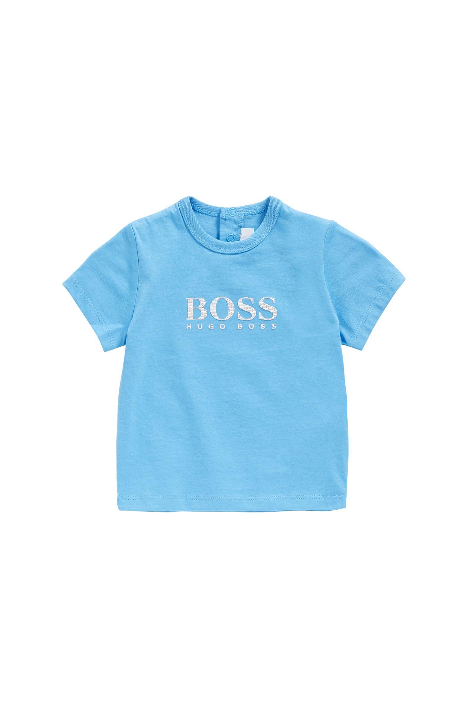 T-shirt pour bébé en coton à imprimé gommé: «J05525»