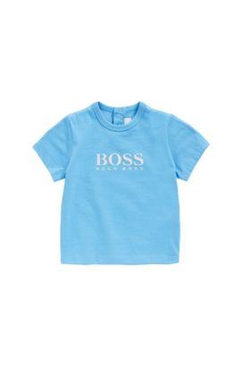Maglietta da neonato in cotone con stampa gommata: 'J05525', Turchese