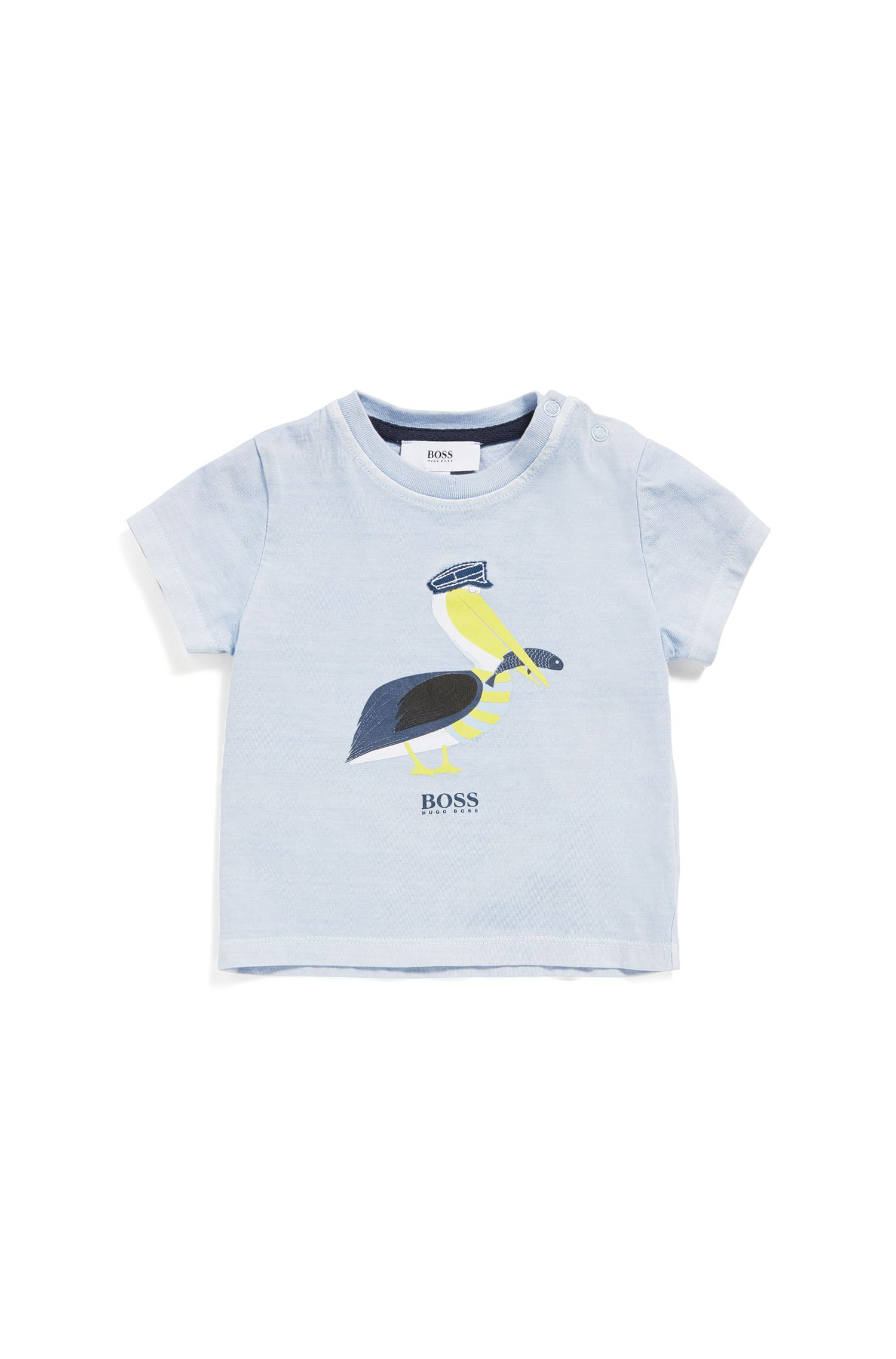 Newborns' shirt in stretch cotton blend with print: 'J05533'