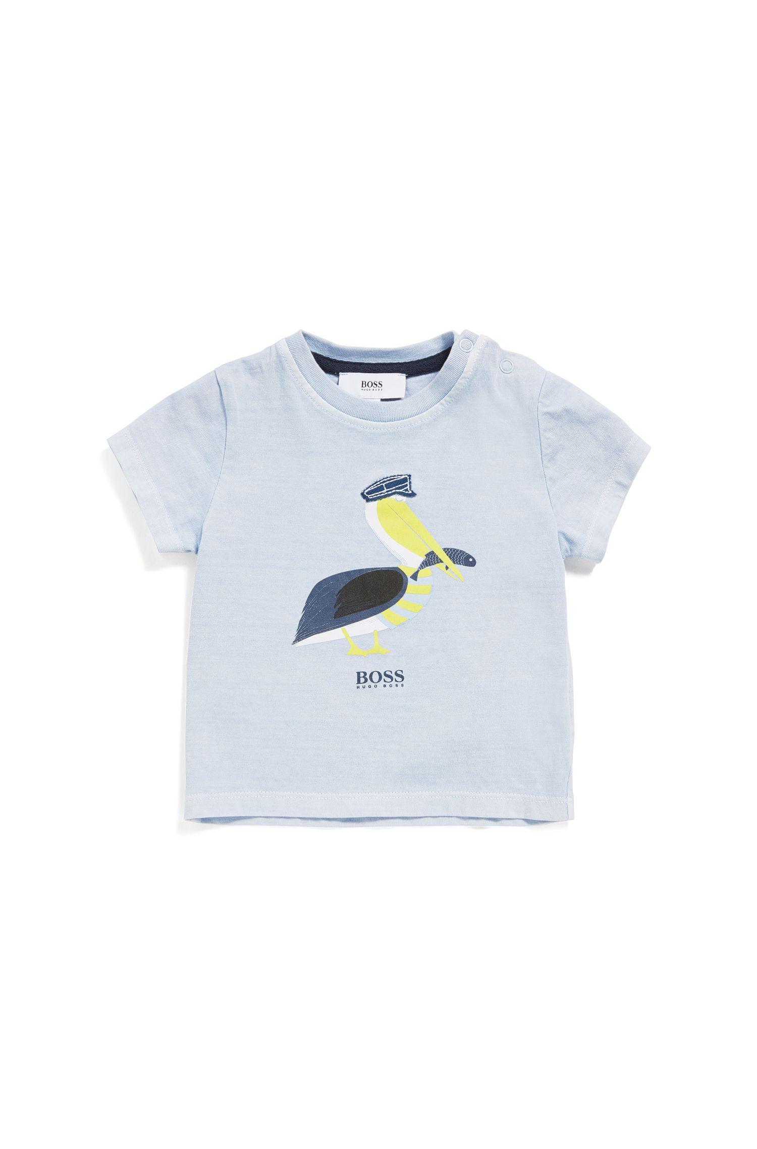 Babyshirt van een katoenmix met stretch met print: 'J05533'