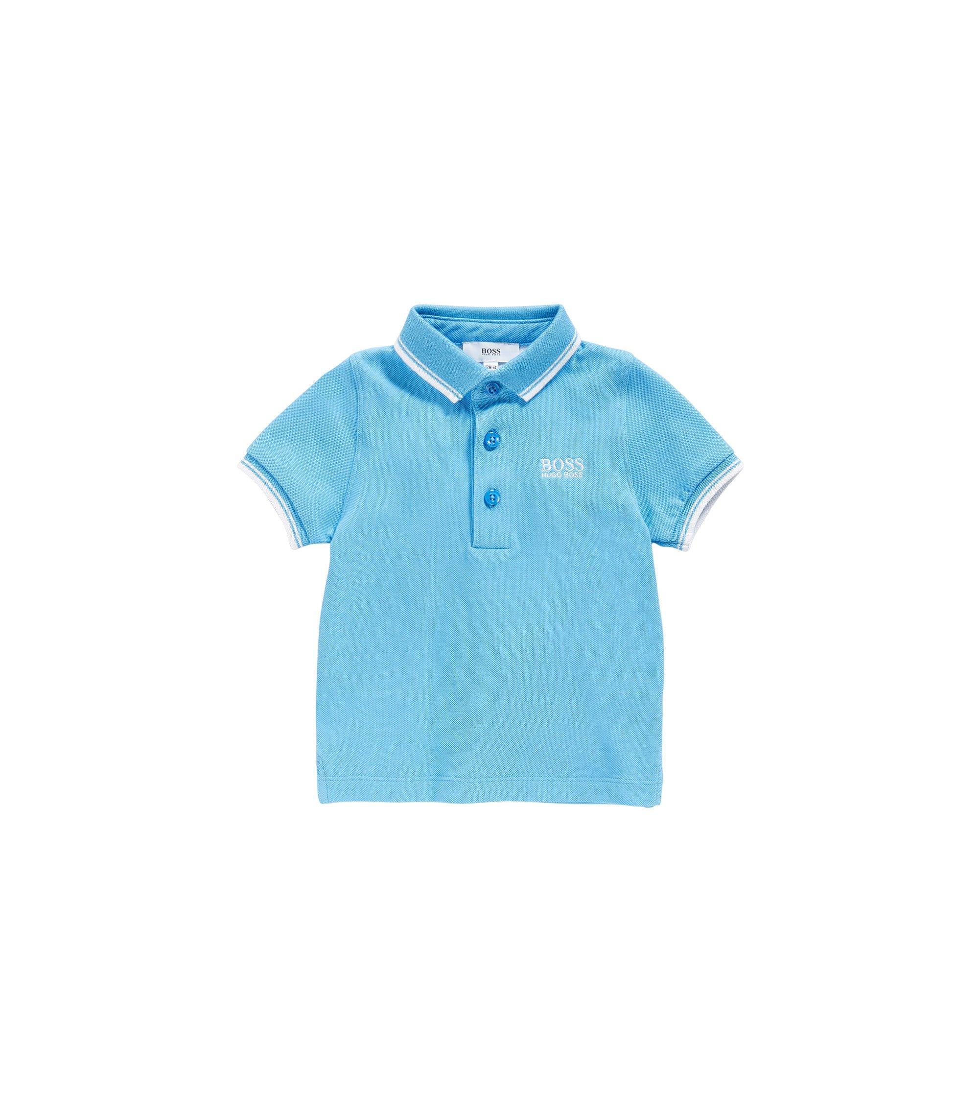 Polo para bebé en algodón con detalles en contraste: 'J05539', Turquesa