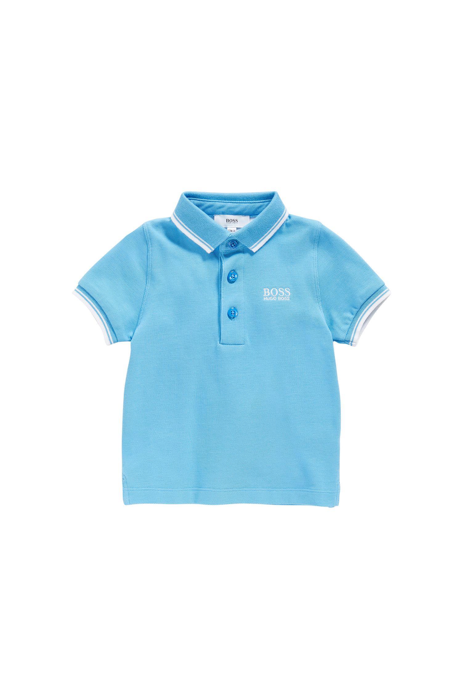 Polo da neonato in cotone con dettagli a contrasto: 'J05539'