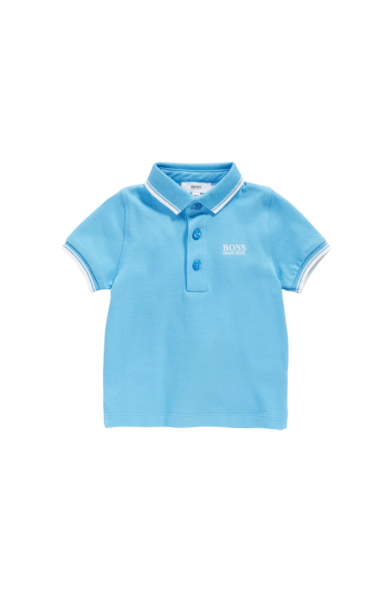 Baby polo shirt in cotton with contrasting details: 'J05539'
