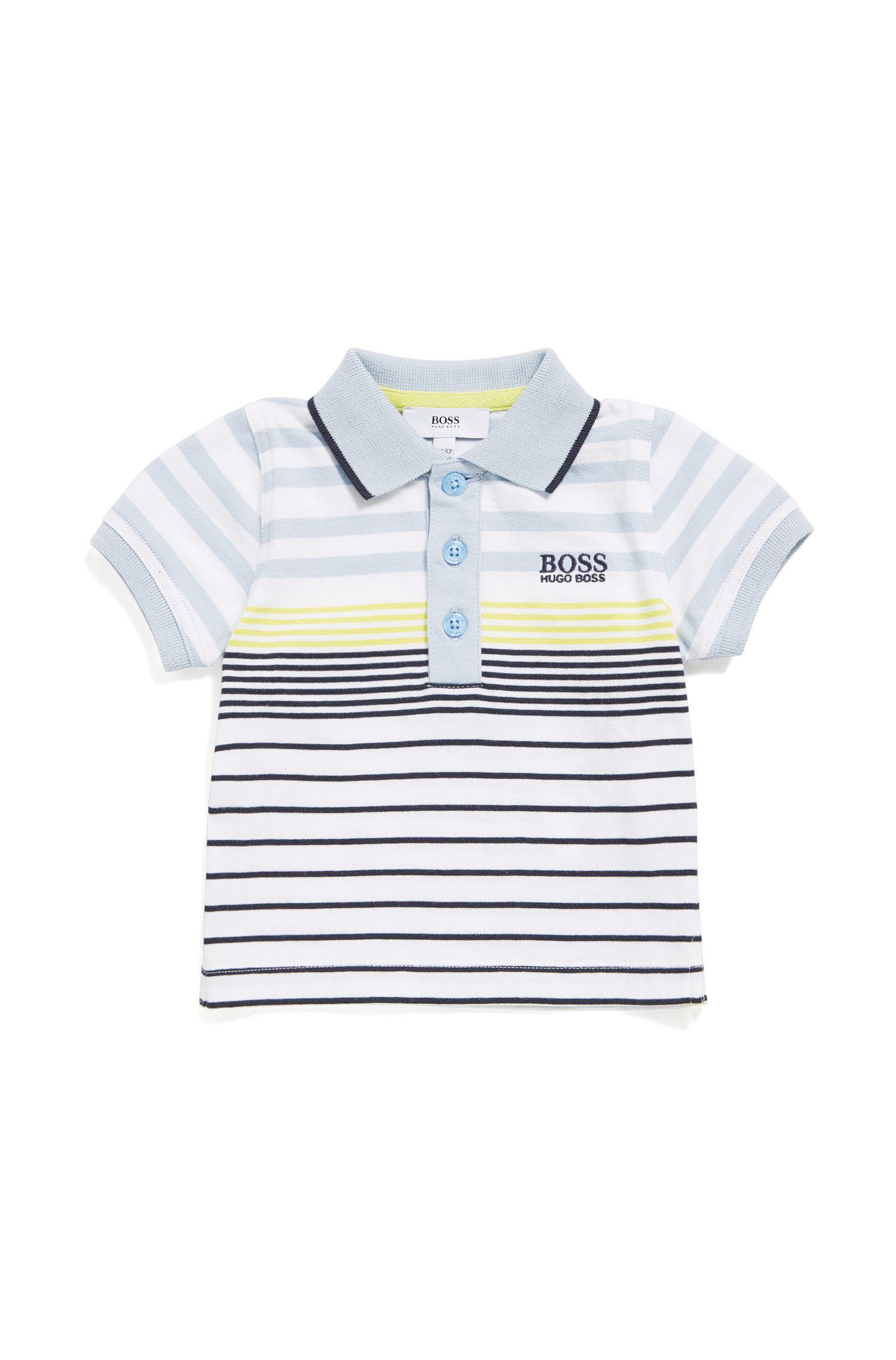 Polo pour bébé en coton à motif rayé: «J05543»