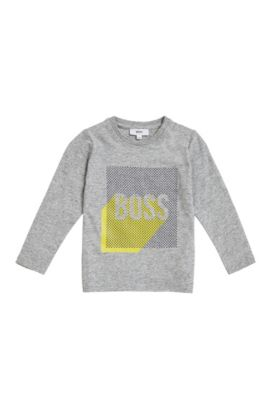 T-shirt imprimé pour enfants, Regular Fit, en jersey de coton, Gris chiné