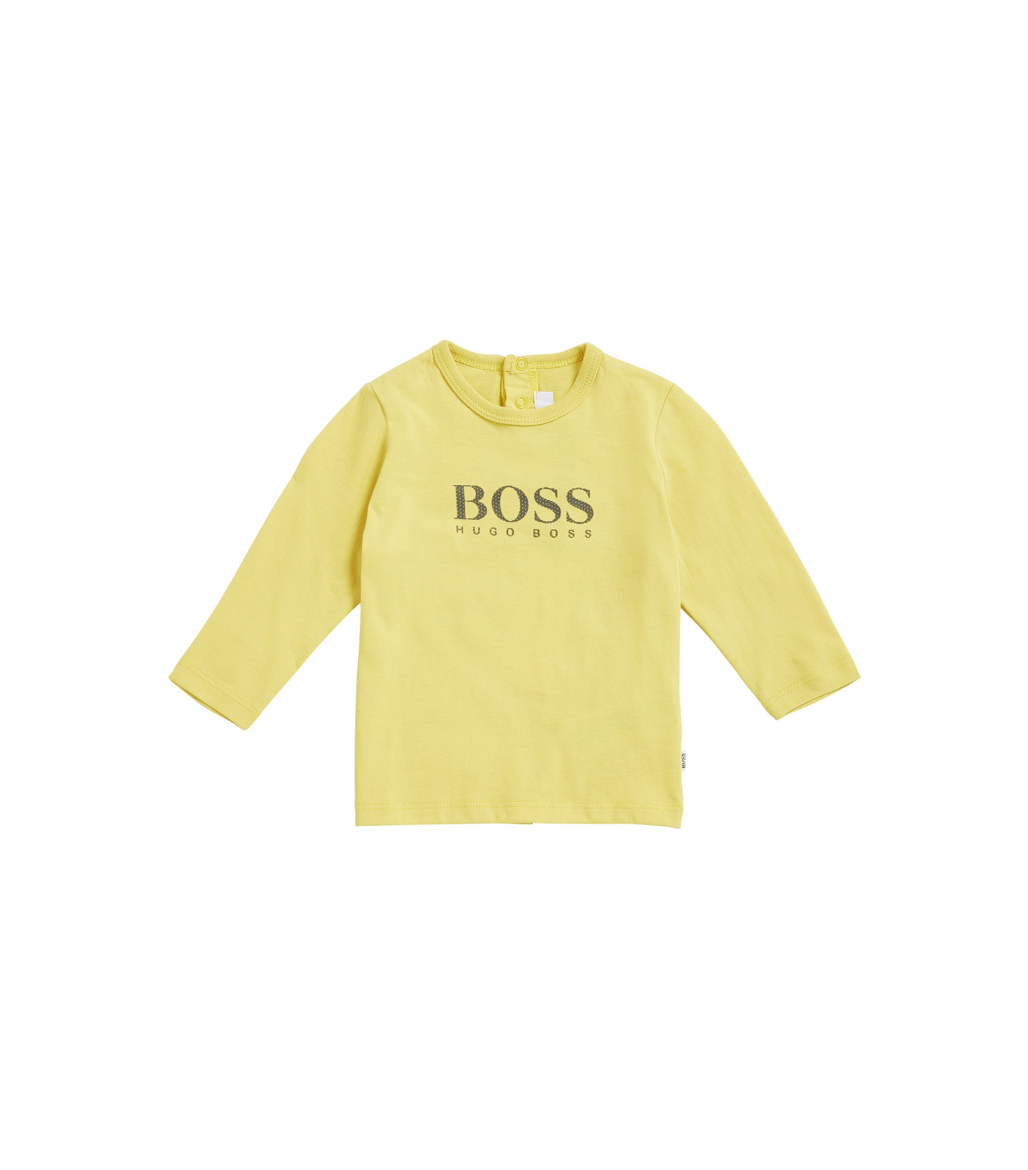Kids' cotton jersey T-shirt in a regular fit, Yellow