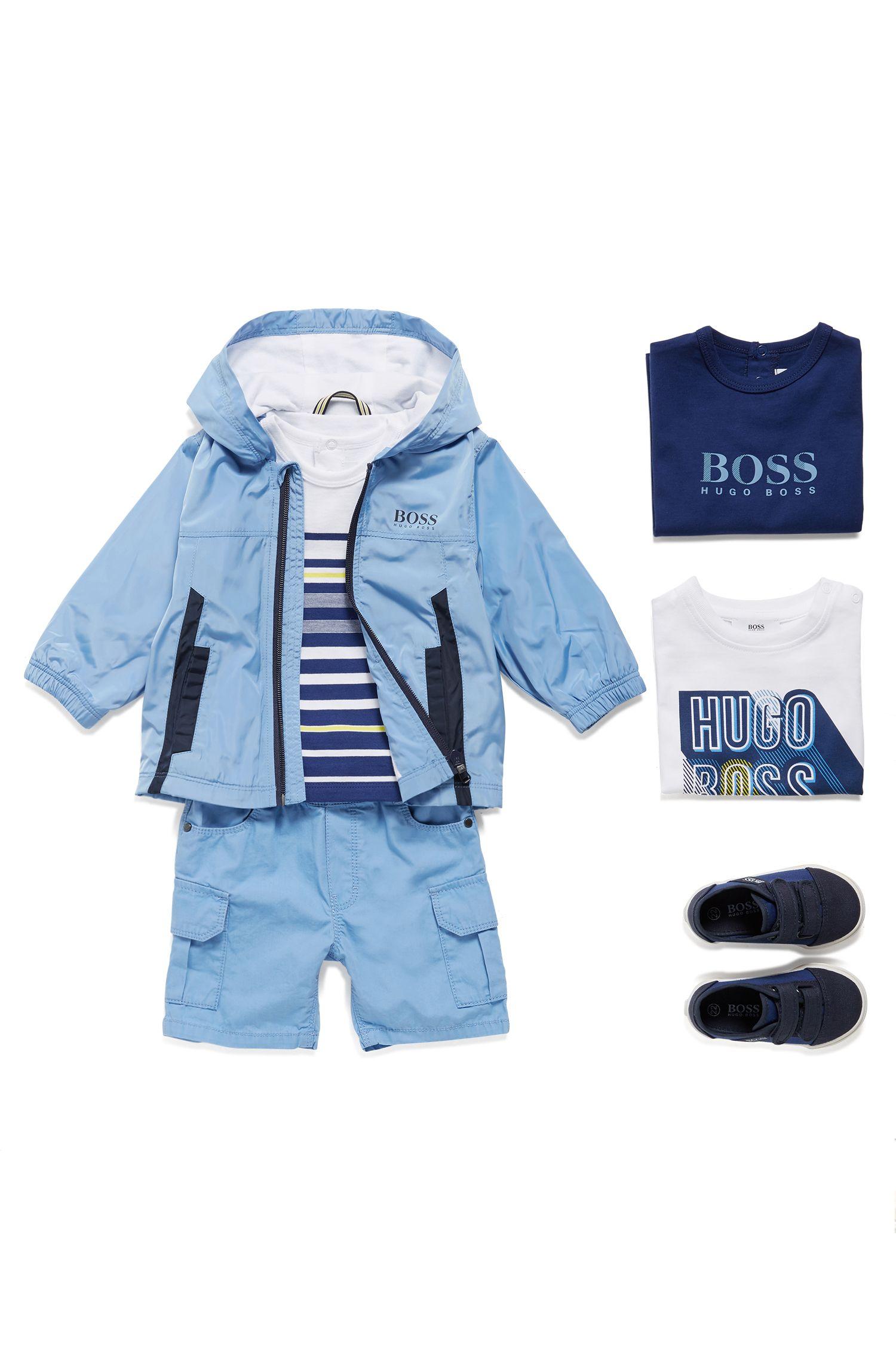 T-shirt à manches longues pour enfant en coton, Bleu foncé