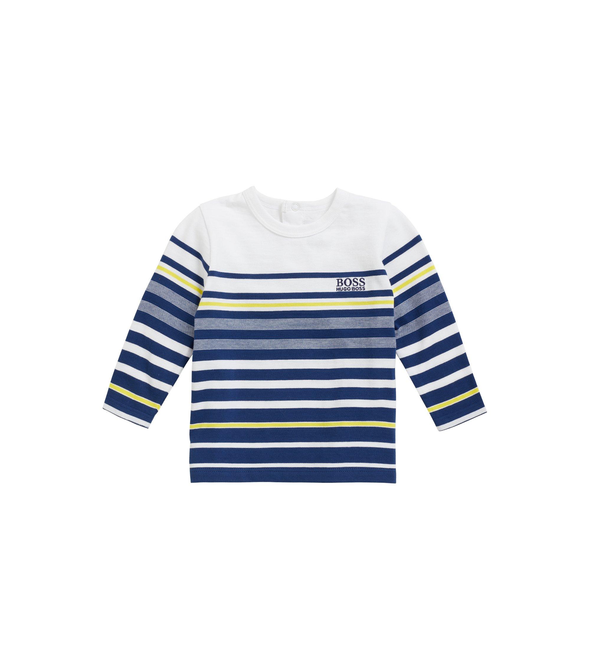 Kinder-T-shirt van katoen met lange mouwen, Donkerblauw
