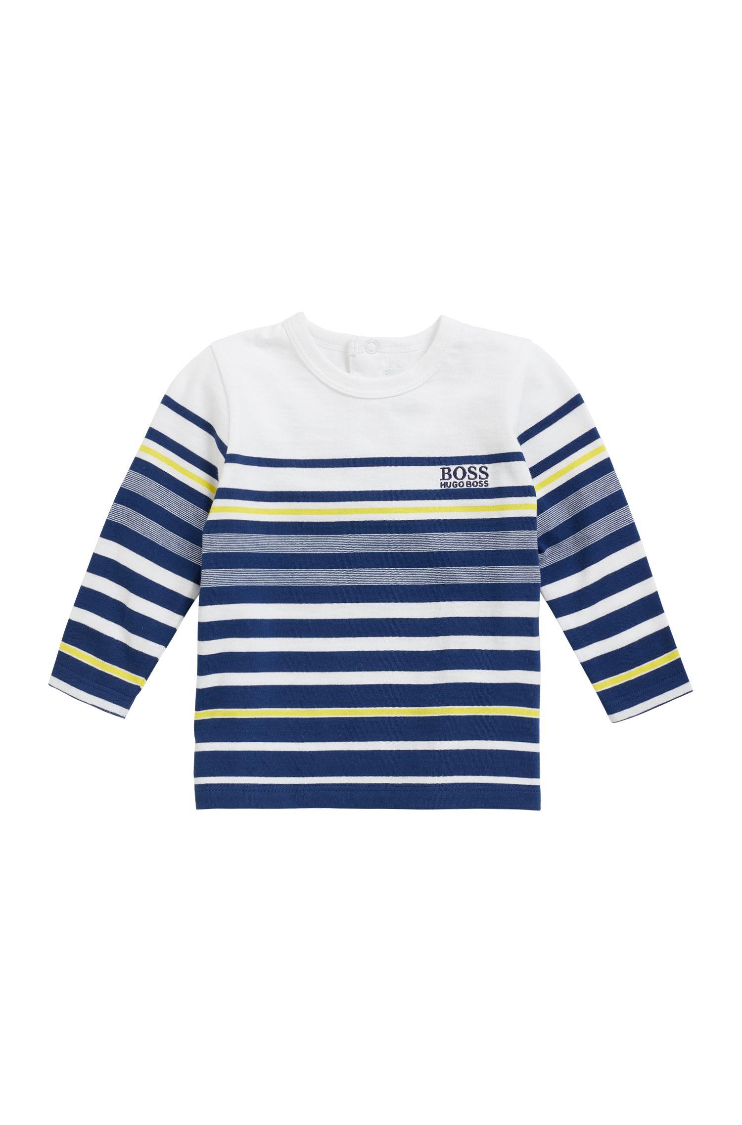 T-shirt da bambino in cotone a maniche lunghe