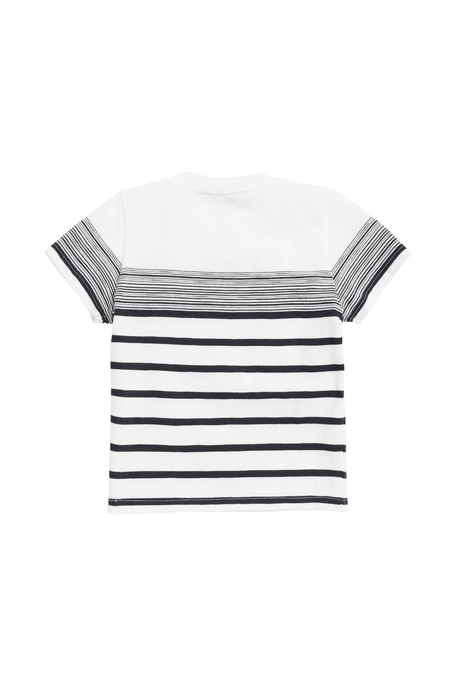 Kids-T-Shirt aus strukturiertem Baumwoll-Jersey