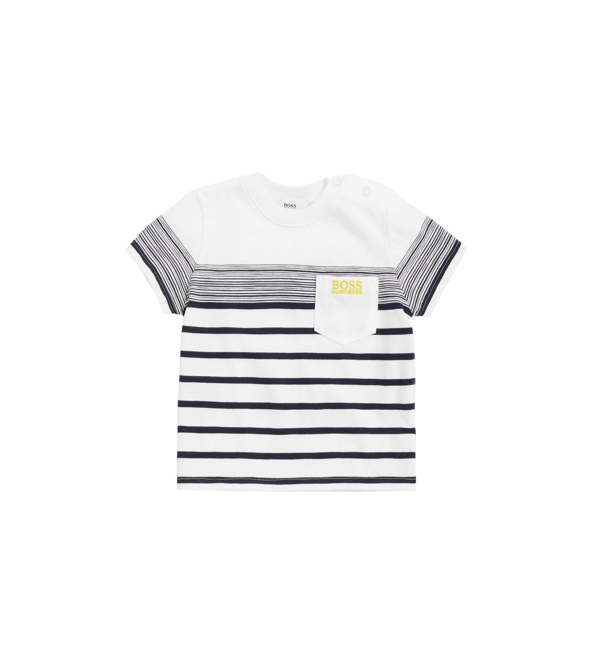 Kids-T-Shirt aus strukturiertem Baumwoll-Jersey, Weiß