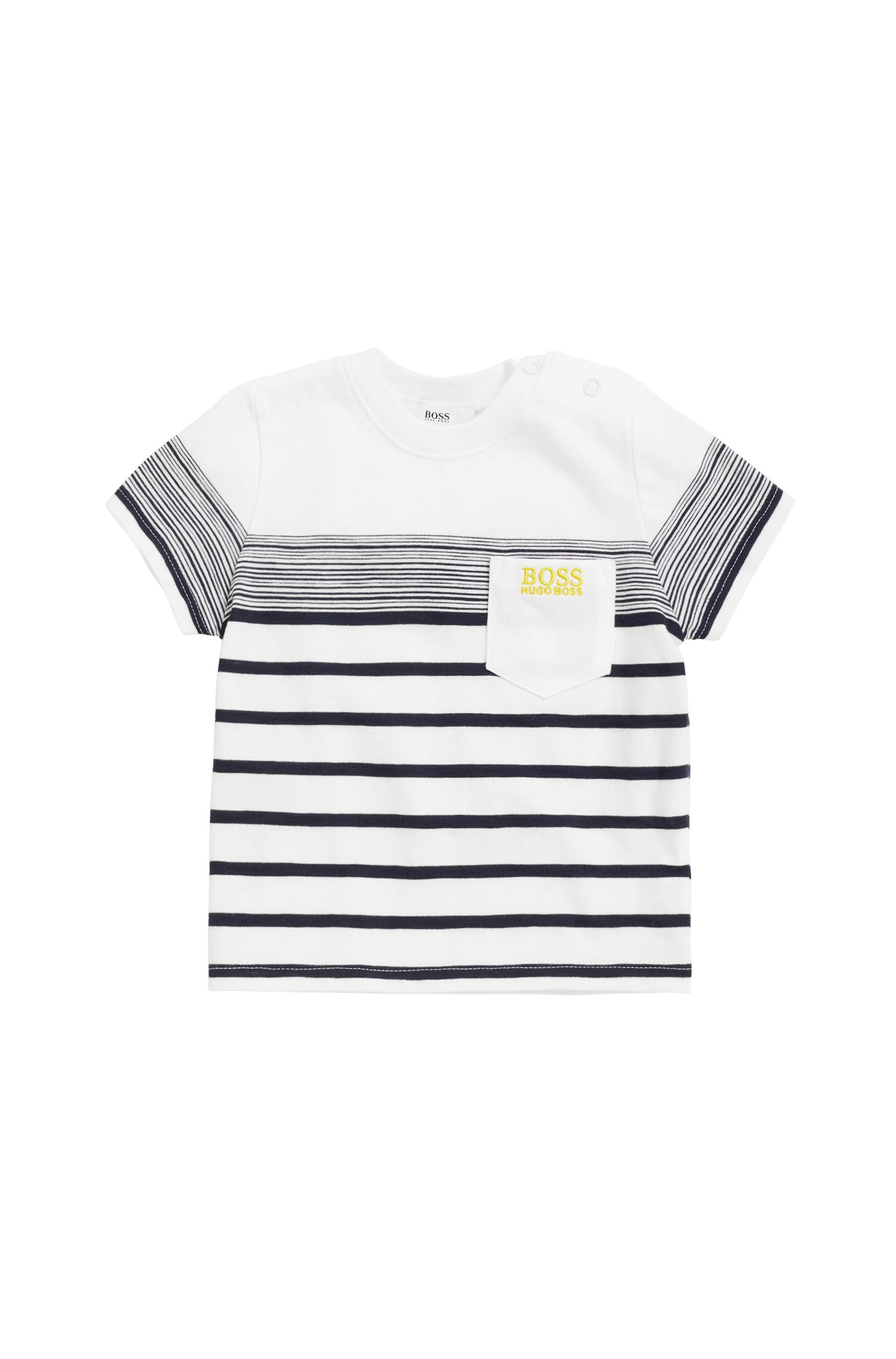 Camiseta para niños en tejido de punto flameado de algodón, Blanco