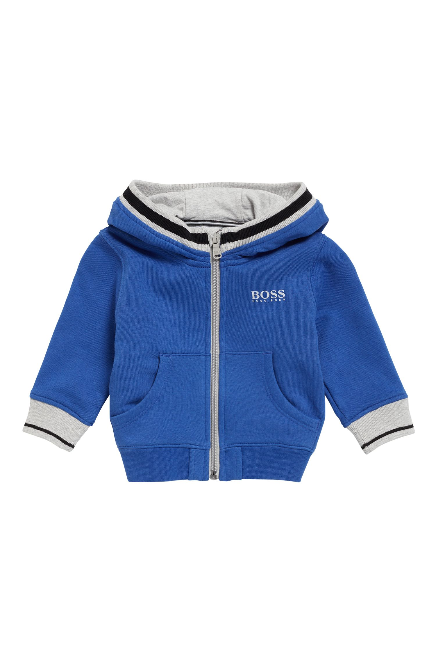Kids-Kapuzenjacke aus French-Terry
