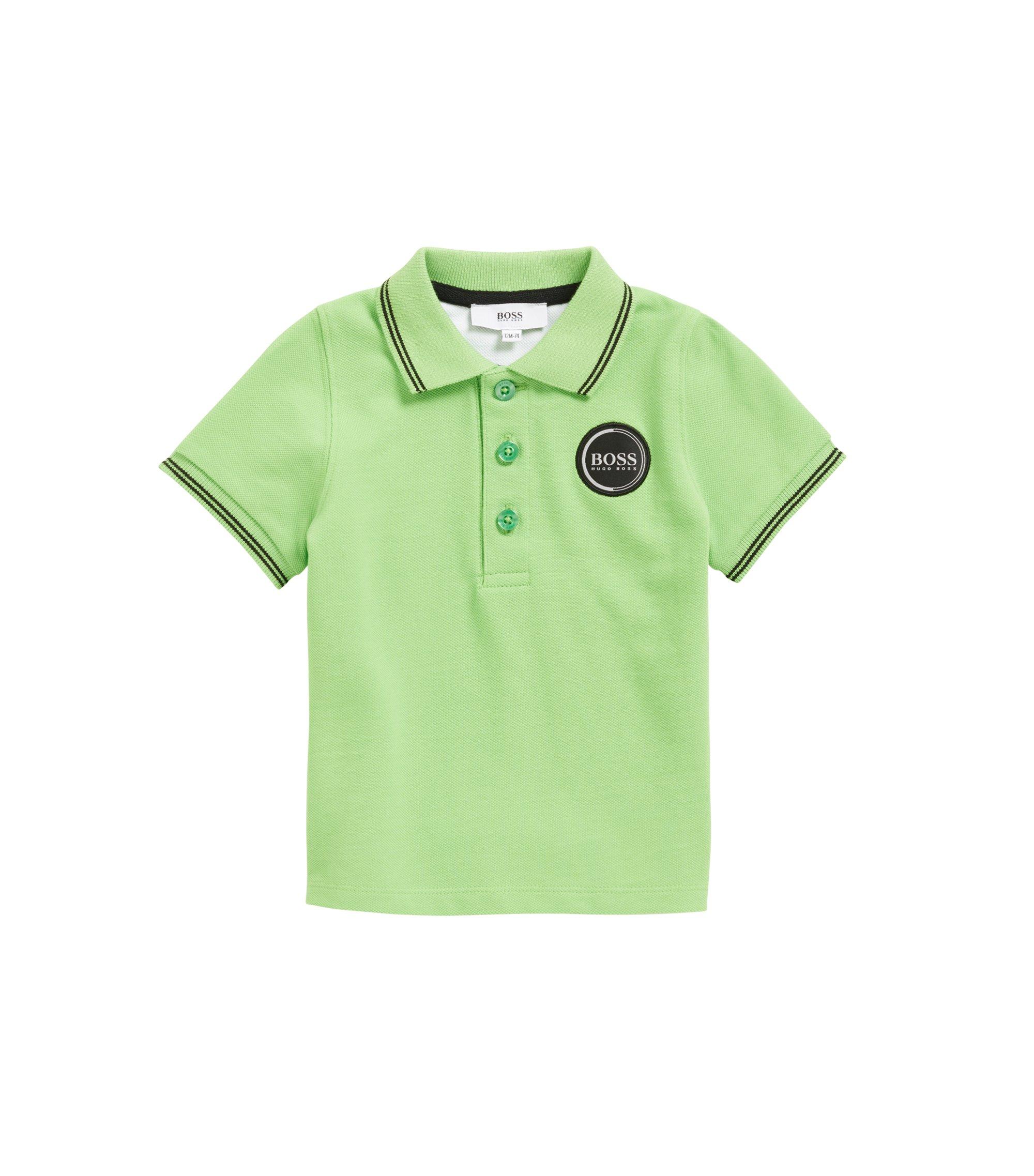 Polo Regular Fit pour enfant, en piqué de coton, Vert