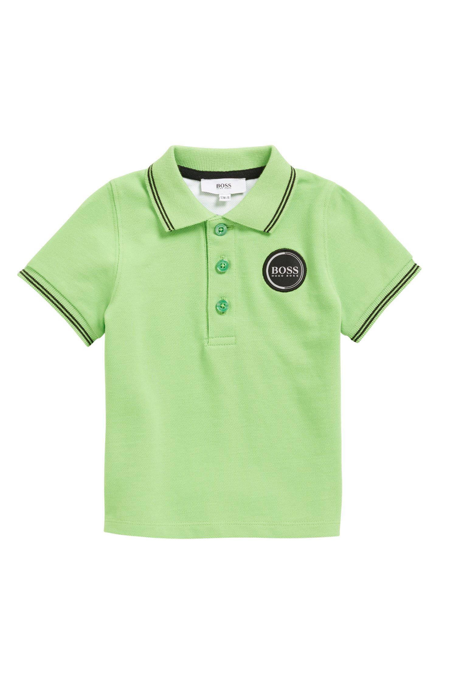 Kids-Poloshirt aus Baumwoll-Piqué, Grün