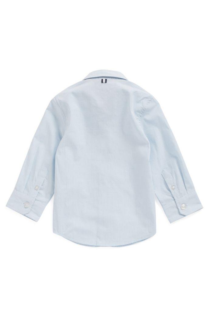 Chemise pour enfant en popeline de coton à grosses rayures