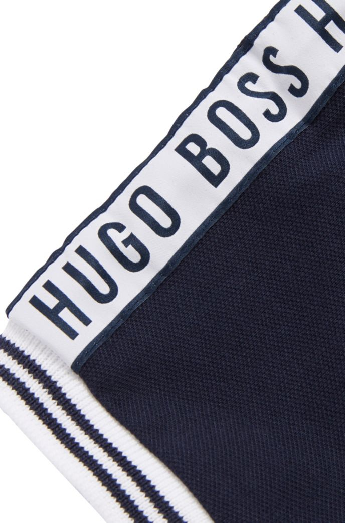 Polo pour enfant en maille piquée avec ruban logo