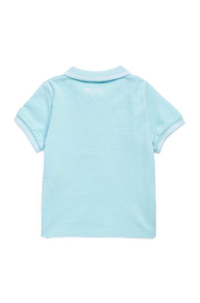 Kids-Poloshirt aus Baumwoll-Piqué mit Streifen-Details