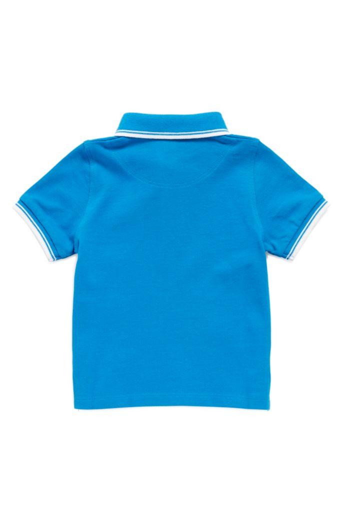 Polo pour enfant en piqué de coton aux finitions rayées