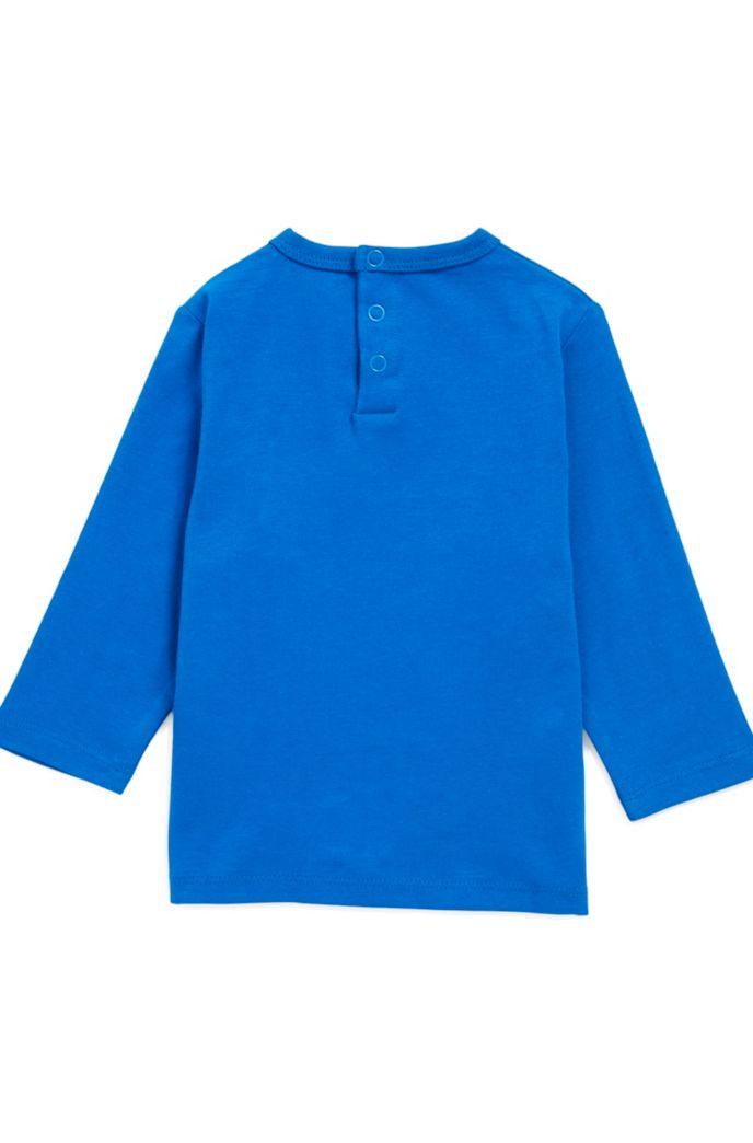 T-shirt pour enfant à manches longues en coton avec logo imprimé
