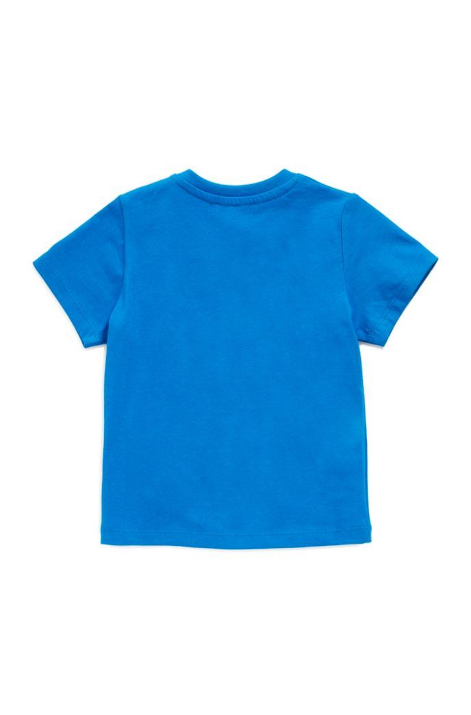 Kids-Shirt aus Baumwolle mit buntem Logo-Print