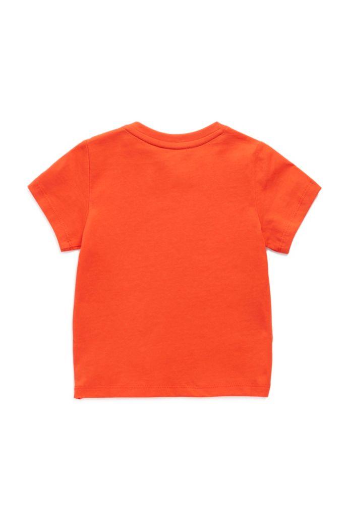 Kids-Shirt aus Baumwolle mit gummiertem Logo-Print