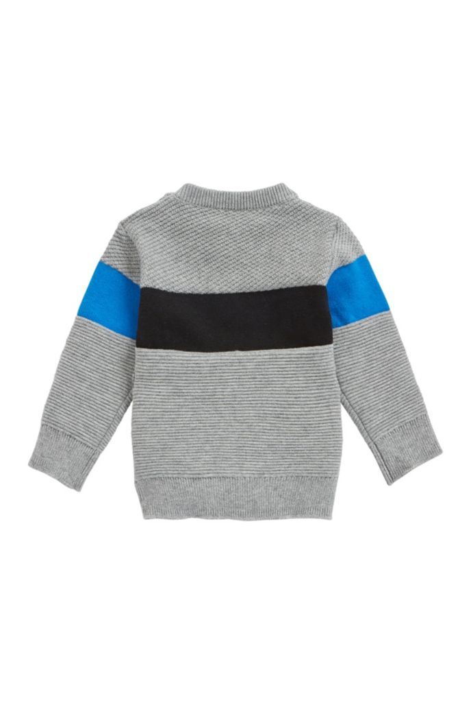 Maglione da bambino in maglia di cotone e lana con logo