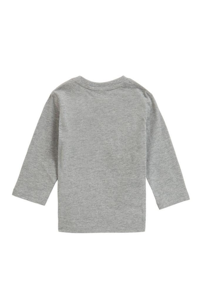 T-shirt enfant à manches longues avec imprimé et logo brodé