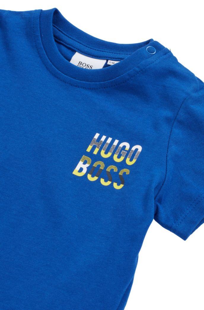 T-shirt en coton pour enfant avec logo et fermeture pressionnée