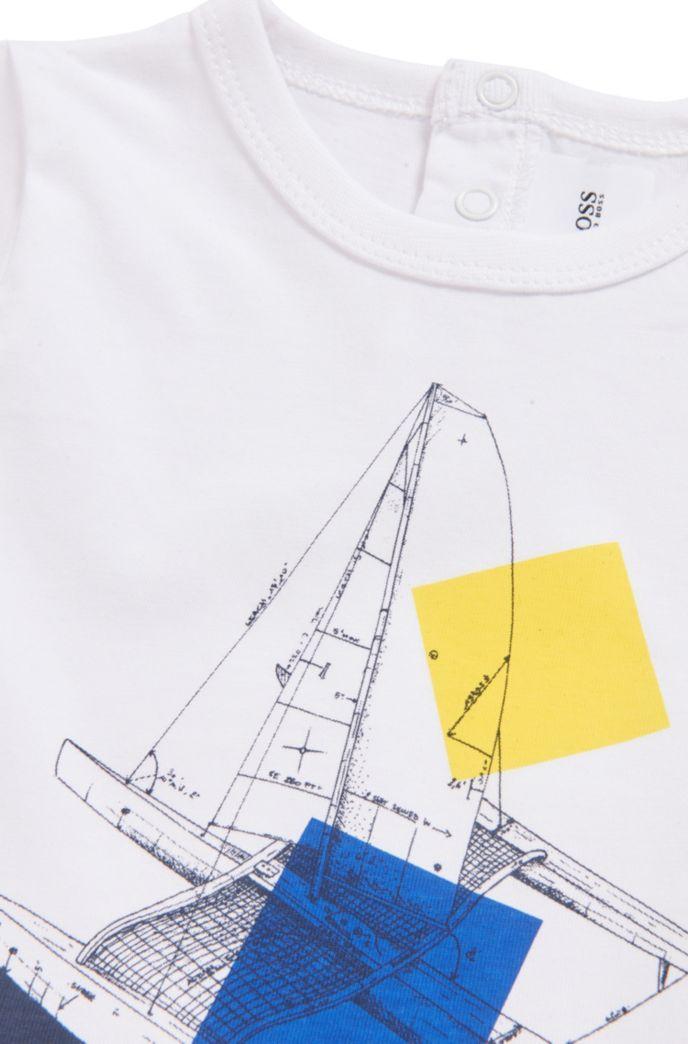 T-shirt en coton mélangé pour enfant avec motif artistique et logo