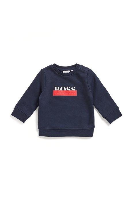 Kids-Loungewear-Sweatshirt aus Baumwoll-Mix mit Logo der neuen Saison, Dunkelblau