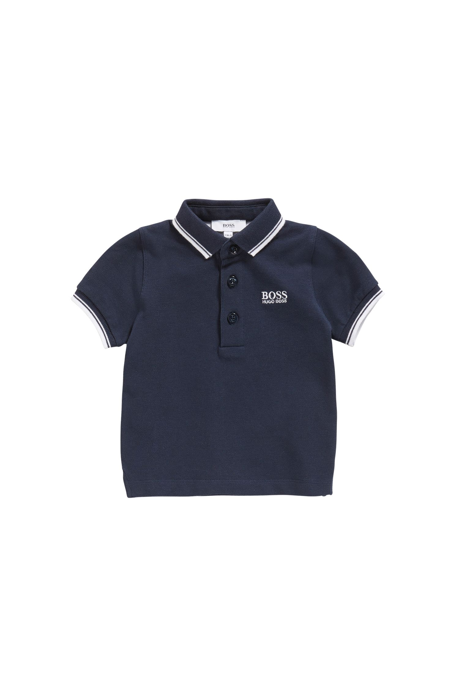 Baby polo shirt in cotton with contrasting details: 'J05P00'