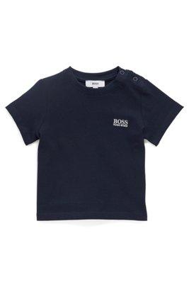 T-shirt pour enfant Regular Fit en jersey simple, Bleu foncé