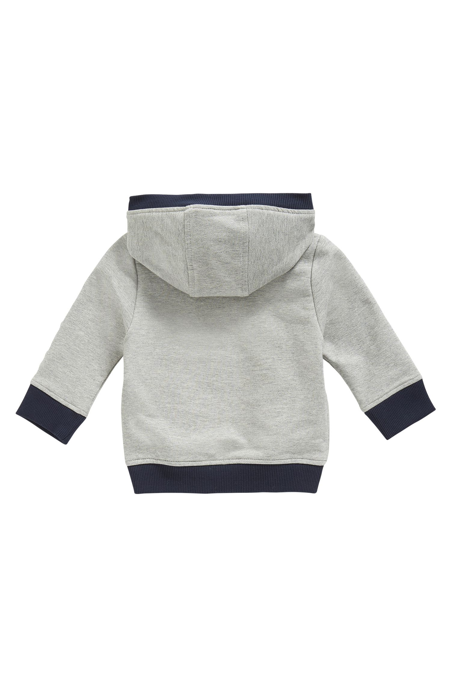 Kids-Kapuzenjacke aus Stretch-Baumwolle, Hellgrau