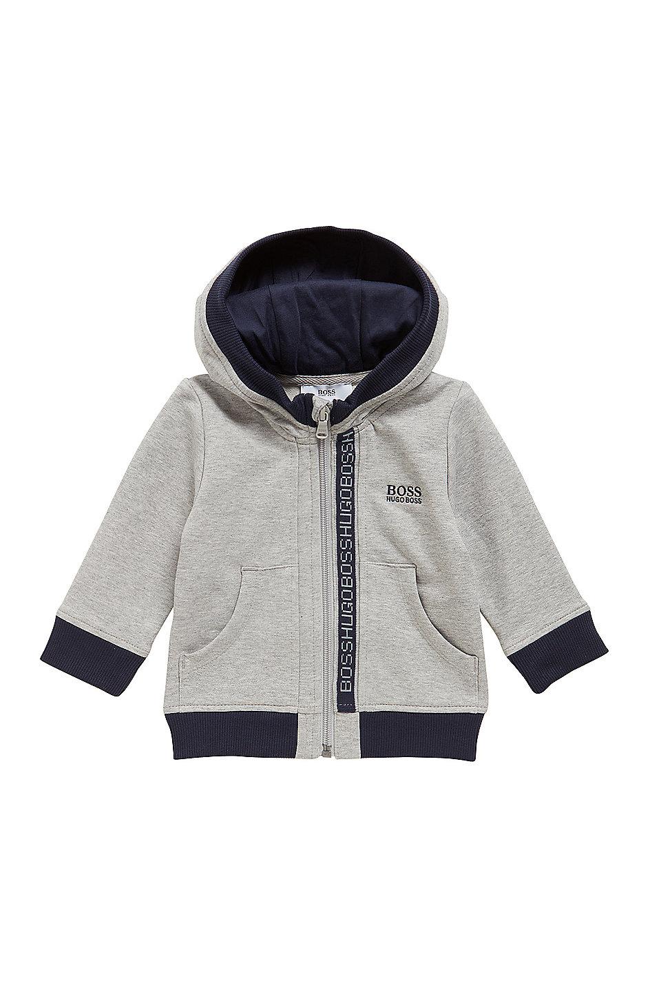 29443ac35953 BOSS - Kids  zip-through sweatshirt in cotton fleece