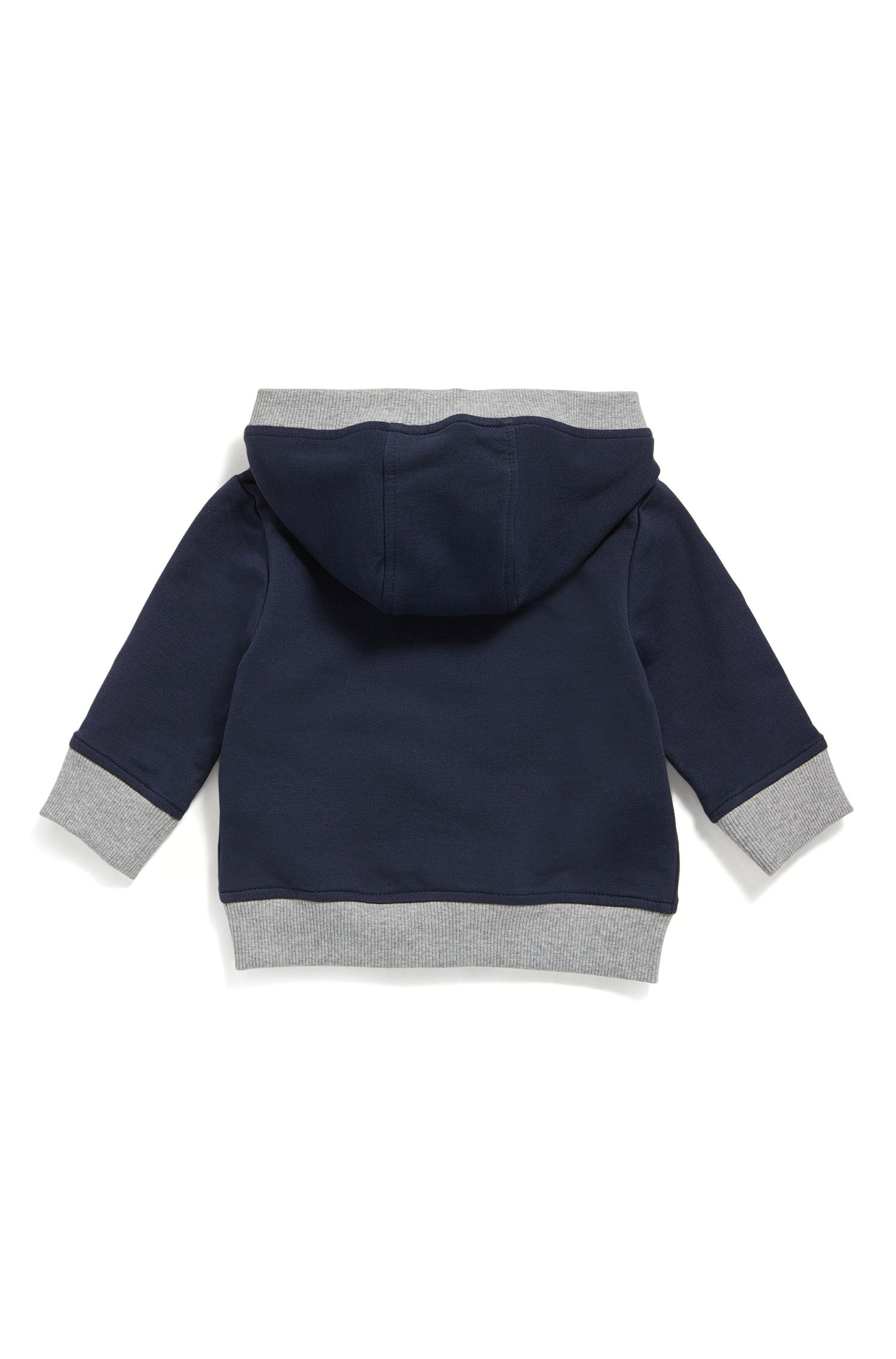 Kindersweatshirt van katoenen fleece met doorlopende ritssluiting