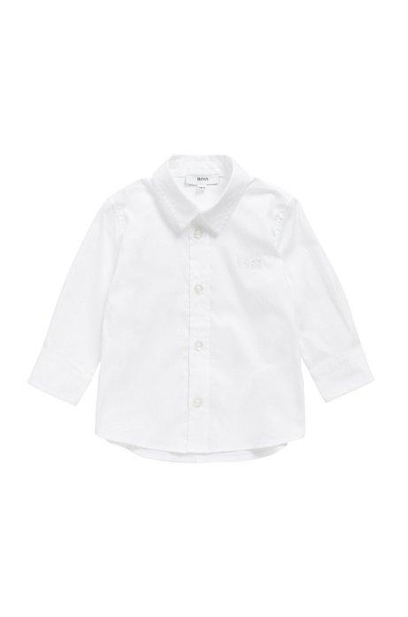 Kids' regular-fit shirt in soft cotton, White