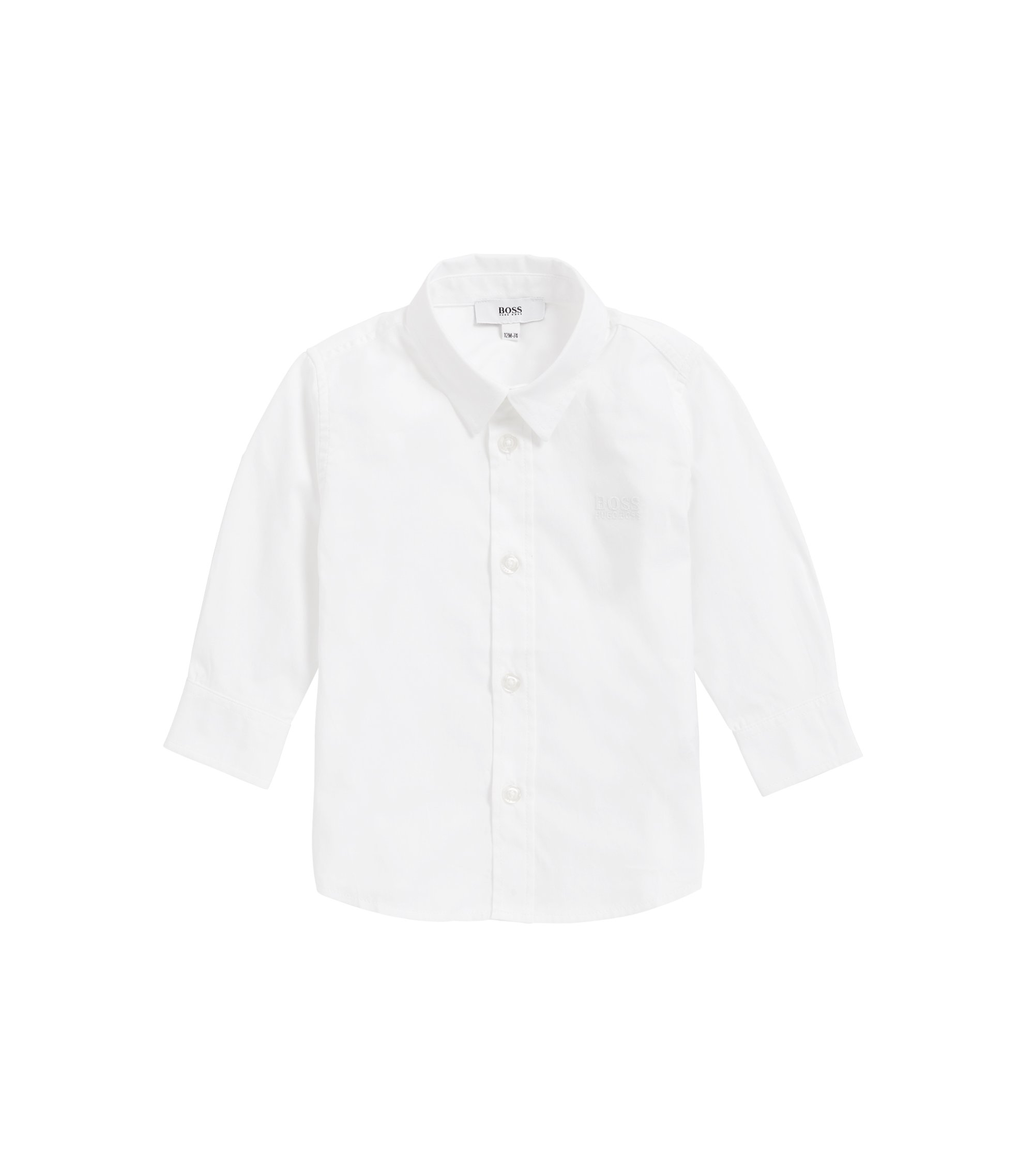 Kids' regular-fit shirt in soft cotton, White