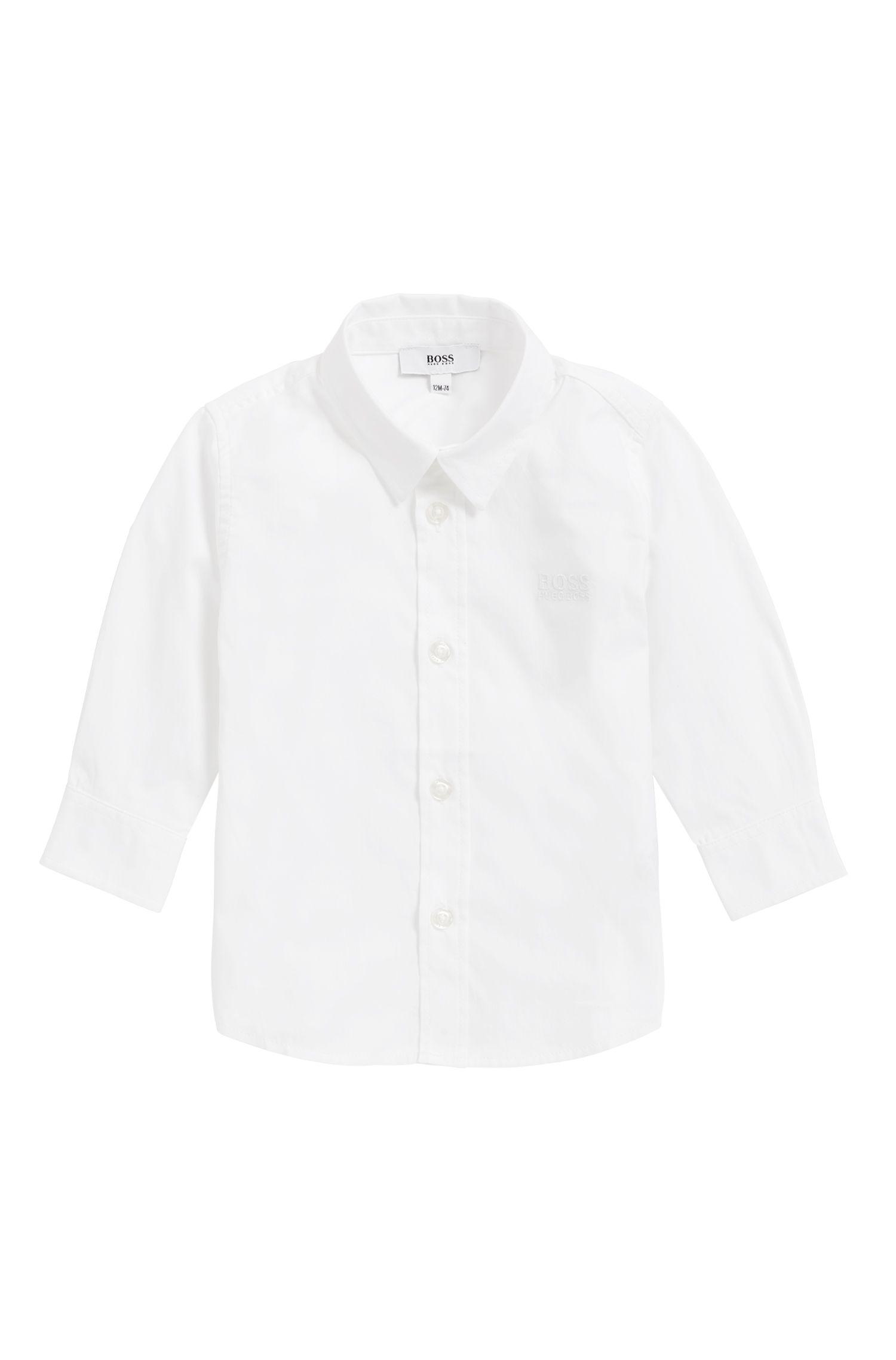 Regular-fit kinderoverhemd van zachte katoen