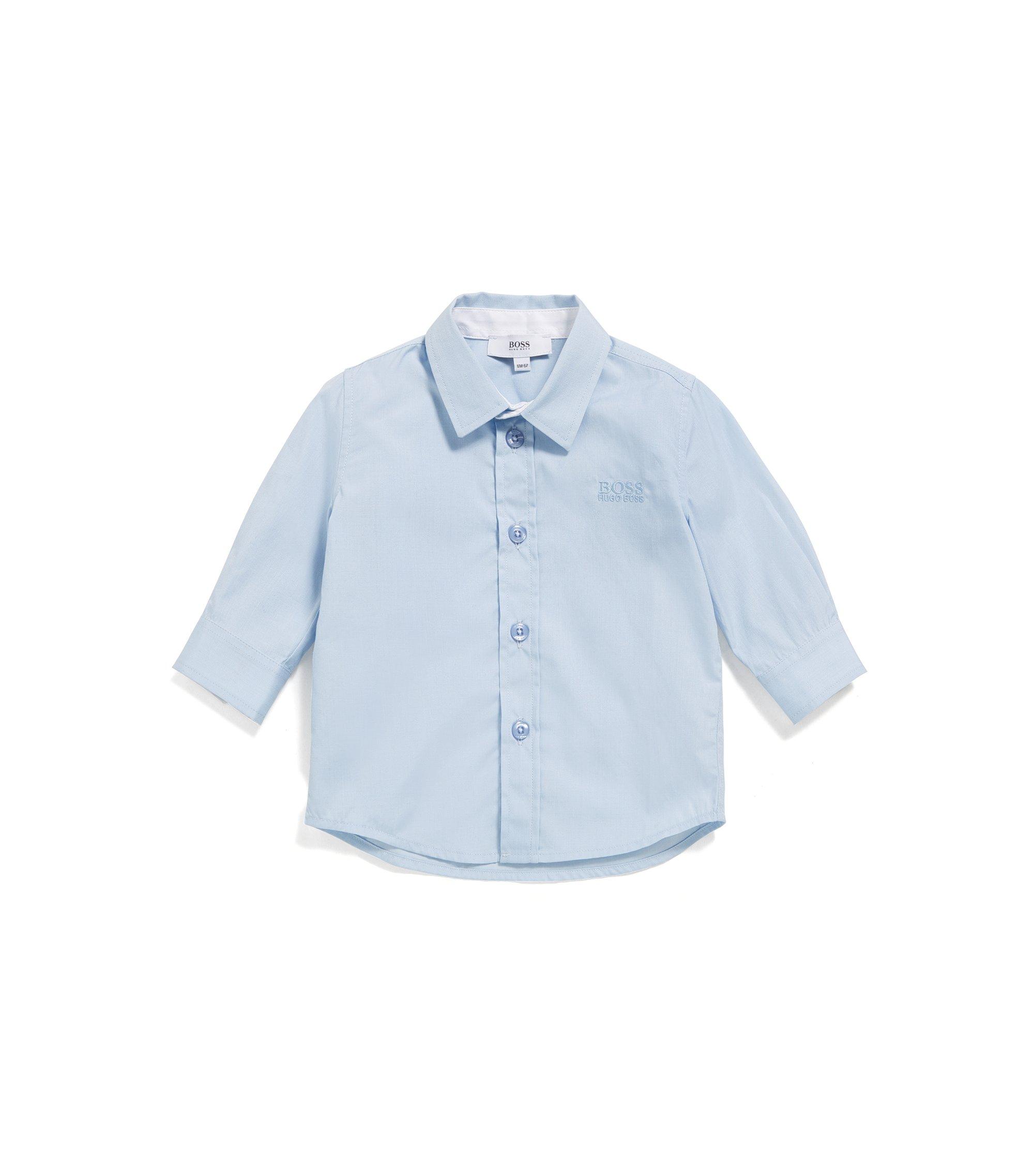 Kids-Regular-Fit-Hemd aus weicher Baumwolle, Hellblau