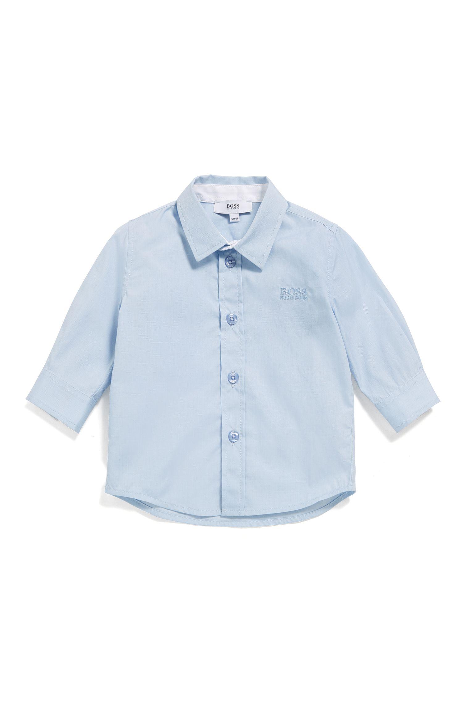 Babyoverhemd van katoen met kentkraag: 'J05P03'