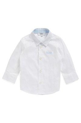 Chemise Regular Fit en coton pour enfant, à logo brodé, Blanc