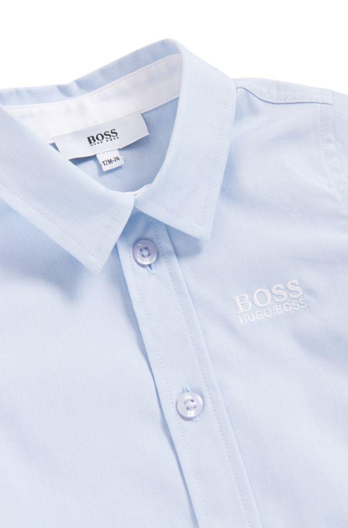 Chemise pour enfant à manches longues avec logo brodé