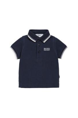 Polo pour enfant en coton, à manches courtes: «J05V40», Bleu foncé